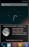 Screenshot of Moon Phases and Zodiac Aspects