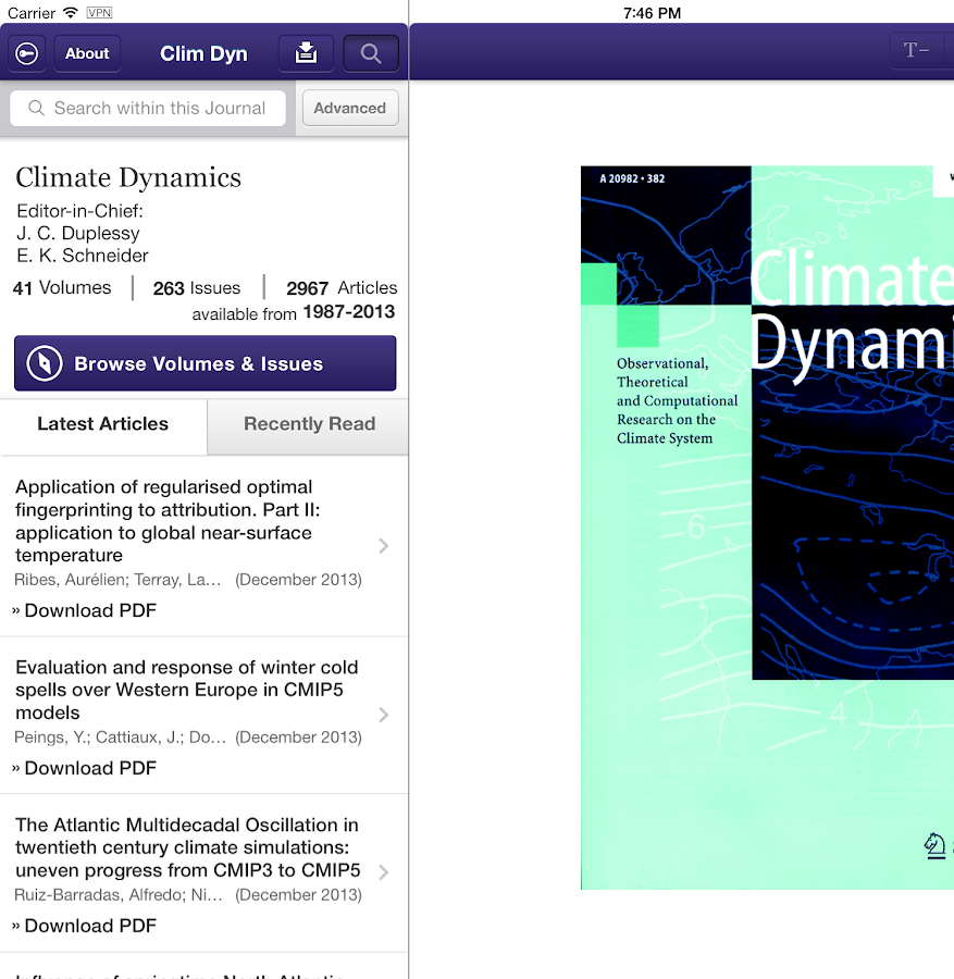 Climate Dynamics- screenshot