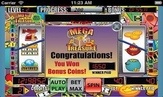 Screenshot of Mega Treasure Slot Machine