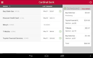 Screenshot of Cardinal Bank
