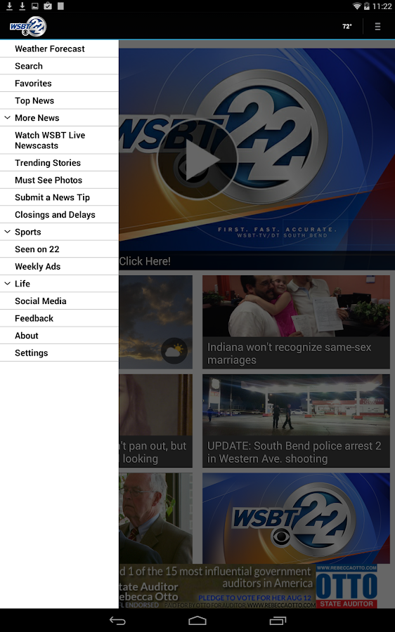WSBT-TV News- screenshot