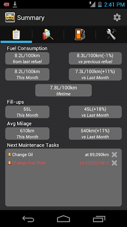 My Fuel Tracker 1.6 screenshot 2015352