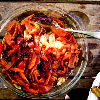 Roasted Marinated Red Peppers with Capers