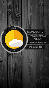 Circle Weather - UCCW Skin - screenshot thumbnail