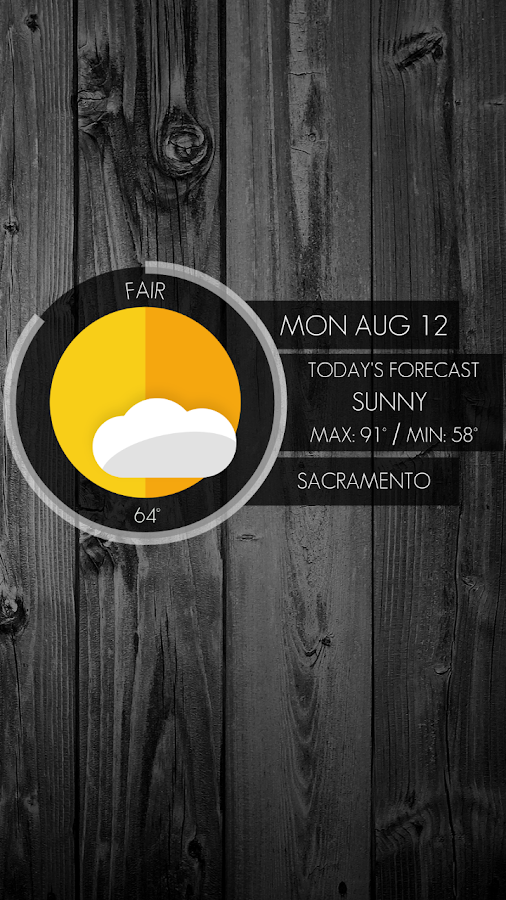Circle Weather - UCCW Skin - screenshot