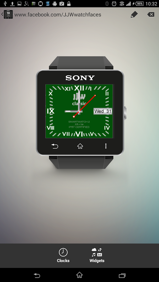 JJW Classic Watchface 4 SW2- screenshot