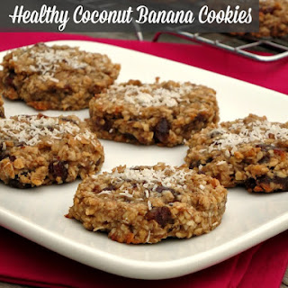 Healthy Coconut Banana Cookies.