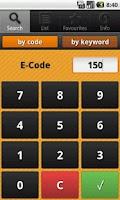 Screenshot of E Numbers