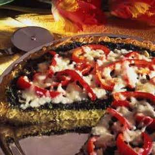 Vegetable Pasta Pizza.