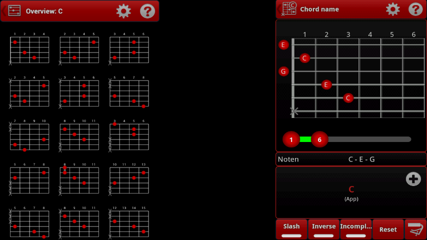 Guitar chords finder software