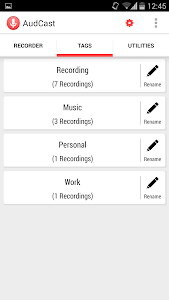 AudCast (Voice Recorder) screenshot 5