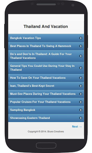 Thailand And Vacation