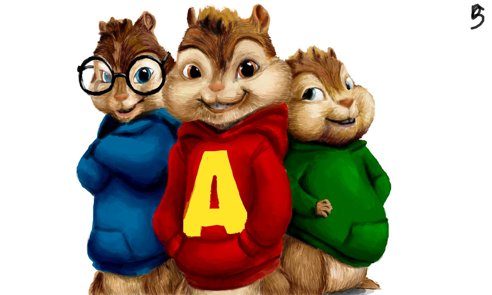 Alvin And Chipmunks Square Cake Iceing Topper Uk