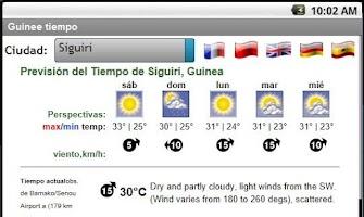 Screenshot of Météo Guinée Conakry