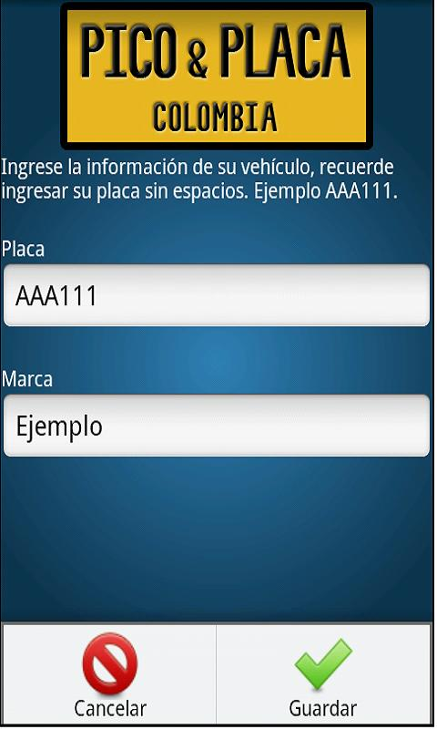 Pico y placa- screenshot