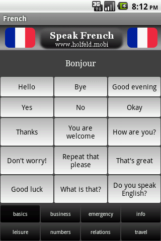 Speak French- screenshot