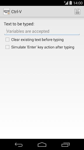 Ctrl-V Keyboard for Tasker