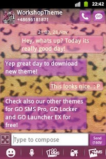 Panther Theme GO SMS- screenshot thumbnail