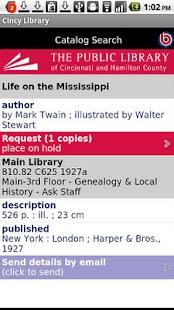 Cincinnati Public Library- screenshot thumbnail