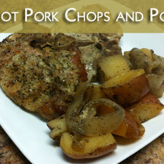 Crock Pot Pork Chops and Potatoes from Get Crocking.