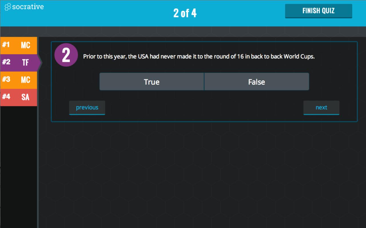 Socrative Student - screenshot