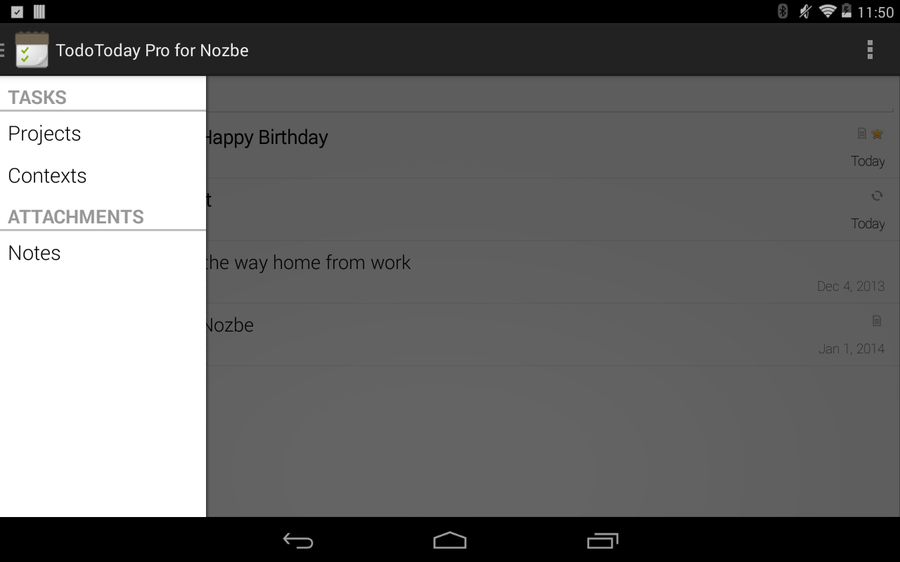 TodoToday Pro for Nozbe - screenshot