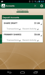 Northwoods Credit Union Mobile - screenshot thumbnail