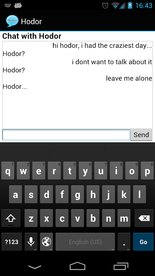 Chat With Hodor- screenshot