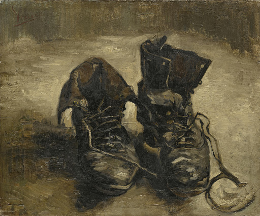 van gogh chaussures print