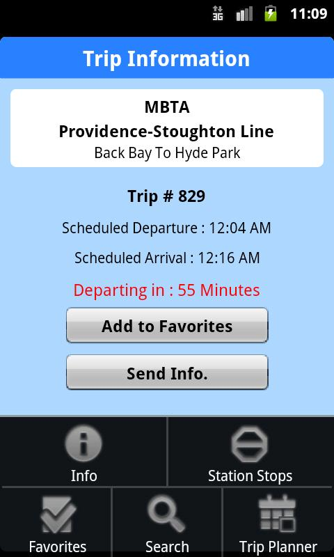 iTransitBuddy MBTA Rail Lite - screenshot