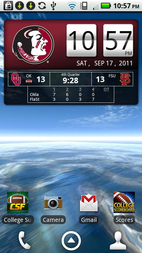 FSU Seminoles Live Clock- screenshot