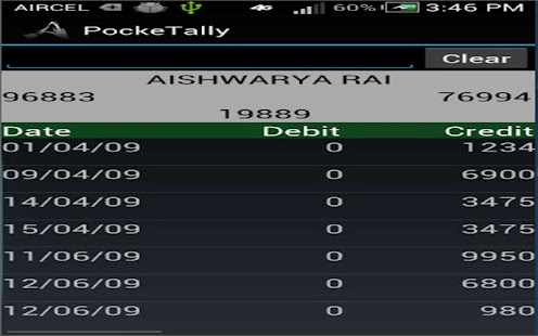 Pocket Tally Screenshot