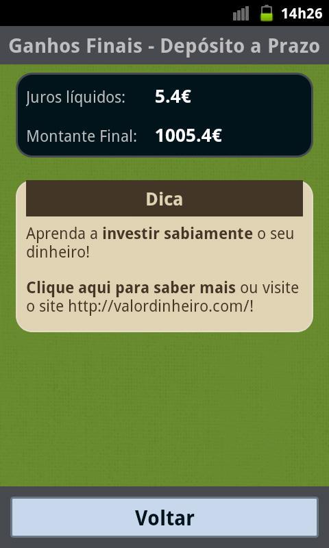 MaisDinheiro - screenshot