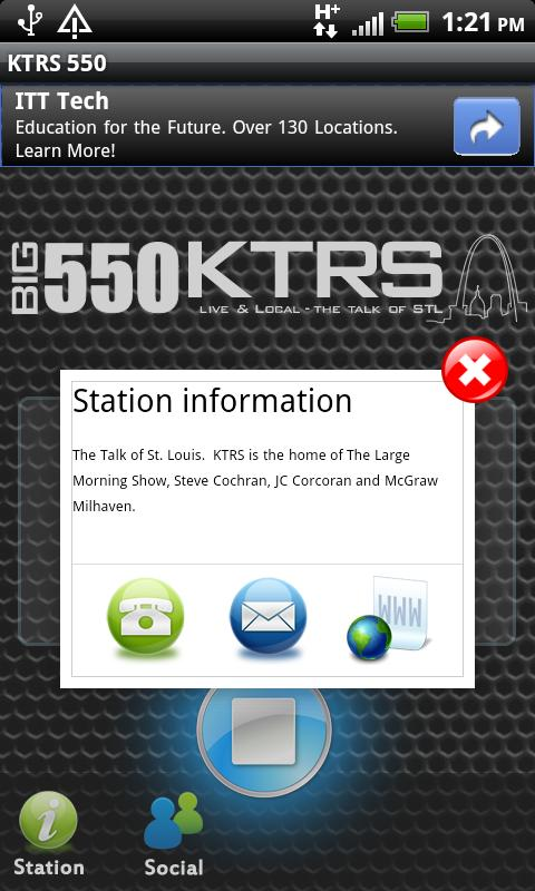 KTRS 550 - screenshot