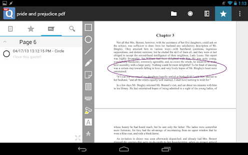 qPDF Notes Pro PDF Reader - screenshot thumbnail