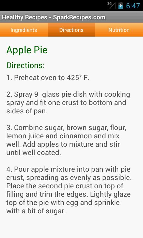 Healthy Recipes - SparkRecipes - screenshot