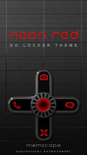 GO Locker NEON RED Theme