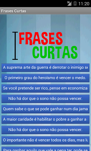 Frases Curtas