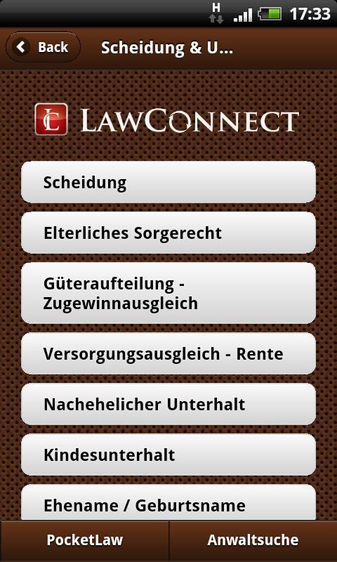 Scheidung & Unterhalt- screenshot