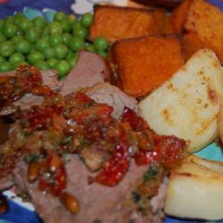 Sun Dried Tomato and Pine Nut Stuffed Beef Tenderloin