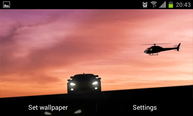 Racing Cars LIVE Wallpaper - screenshot