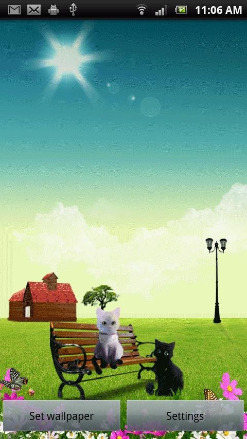 Two Cats Live Wallpaper - screenshot