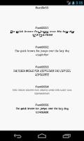 Screenshot of Fonts for FlipFont 55