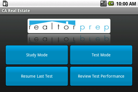 California Real Estate Exam - screenshot