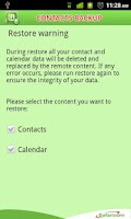 Screenshot of Safaricom Contacts Backup