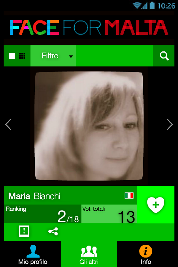 Face For Malta – Screenshot