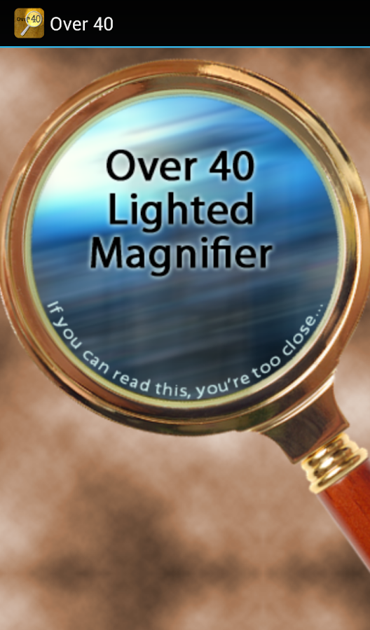 Over40 Magnifier & Flashlight- screenshot
