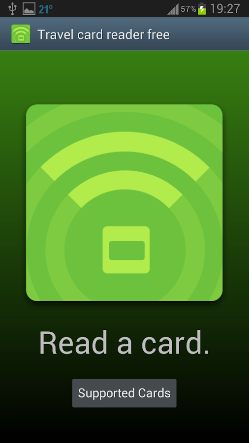 Travel card reader free- screenshot