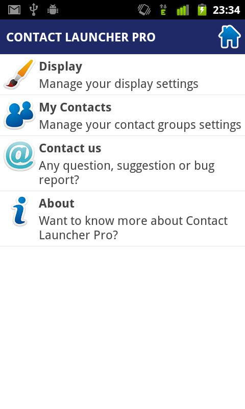 Contact Launcher Pro - screenshot