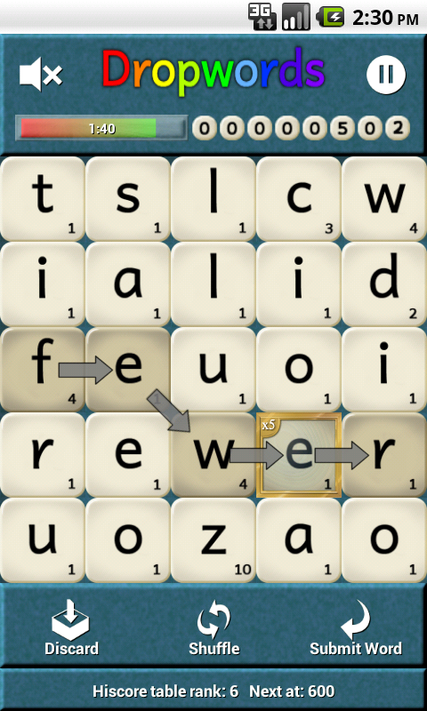 Dropwords PRO - screenshot